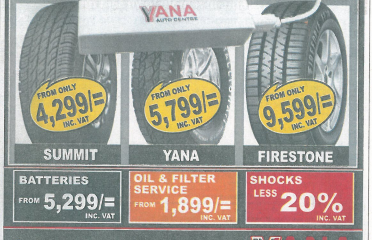 Yana Tyres New Exciting Offers