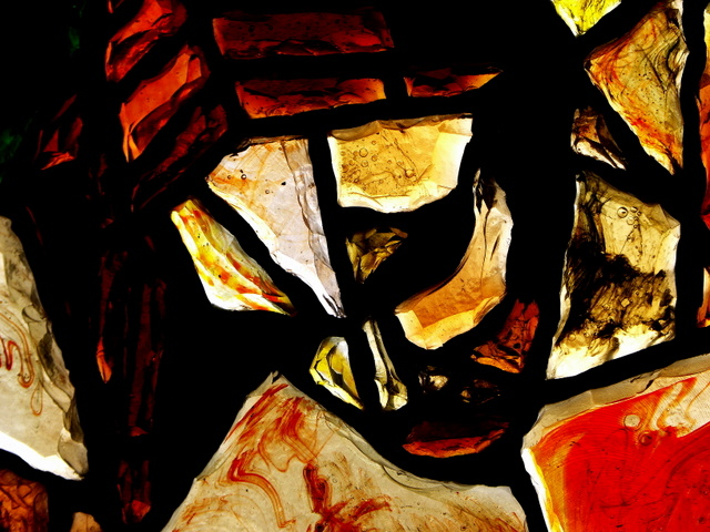 Face of Christ in French Glass
