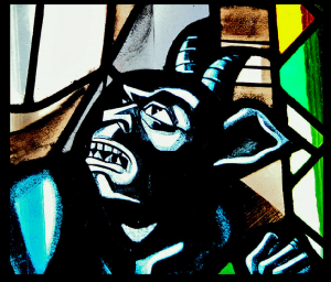 Demon with Horns, Polish Church, Regina Sask.